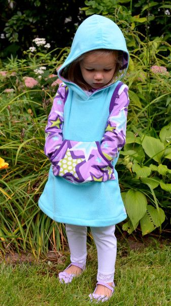 The Hideaway Hoodie Dress Sewing Pattern (PDF) | Clothing patterns ...