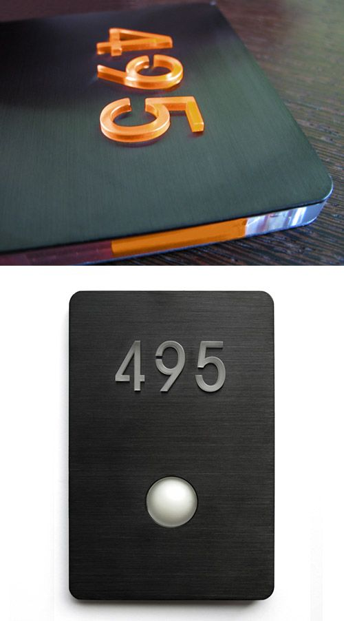 Zerogravity Led Doorbell Panel Black Surrounding Com Door Signage Doorbell Door Glass Design