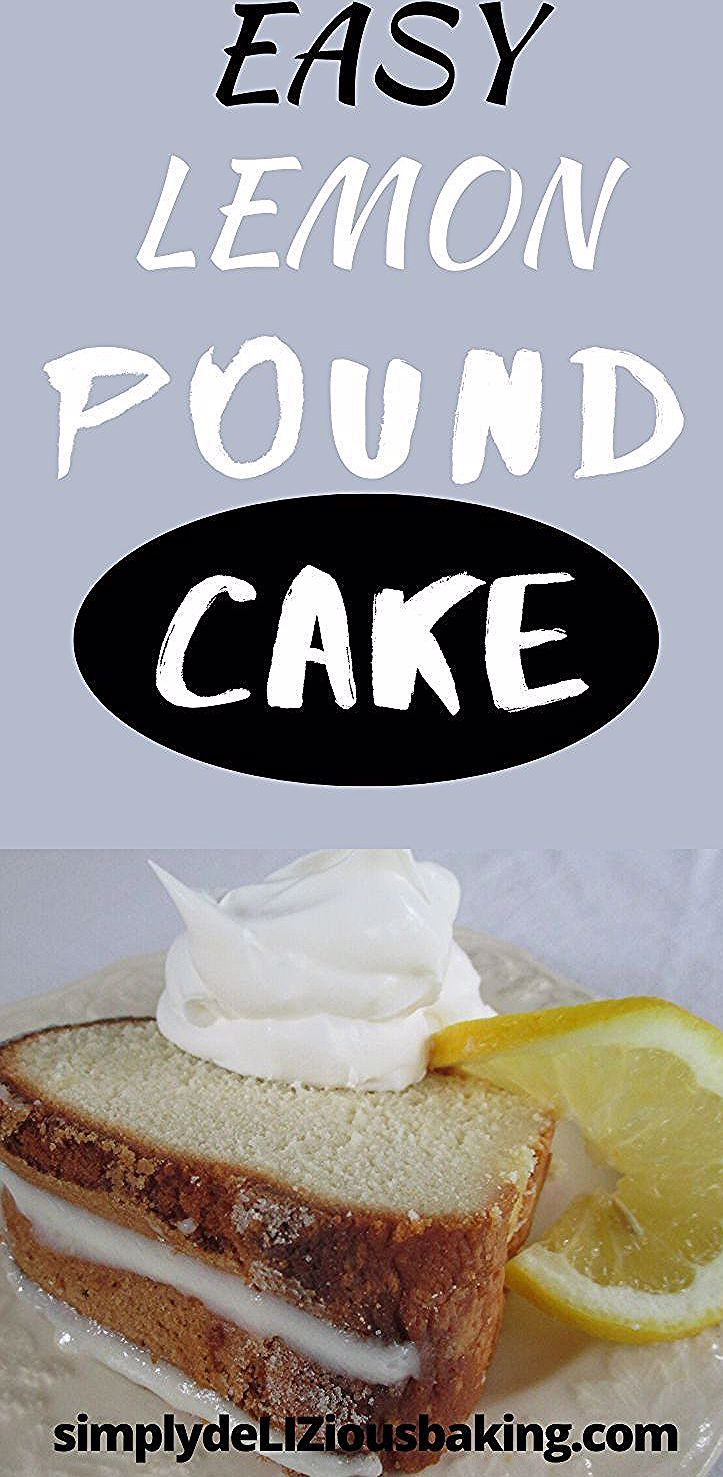 This Easy Lemon Pound Cake is a classic southern pound cake favorite.  It's moist and dense and bur