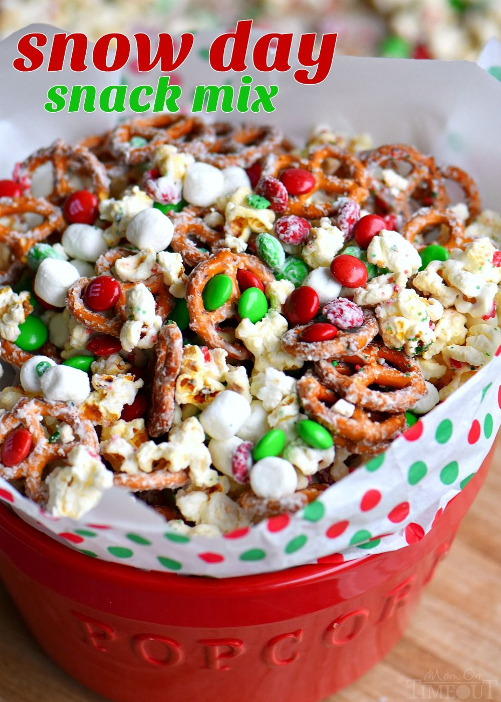 This wonderfully festive Snow Day Snack Mix is the perfect easy treat all winter…