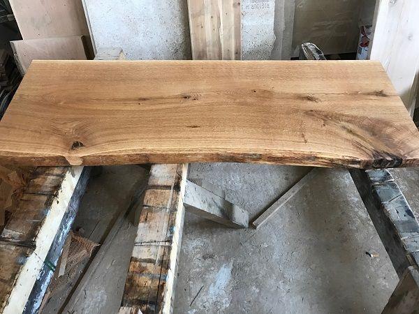 Baumscheibe Waschtisch Tischplatte Unbesaumt Gerade Eiche