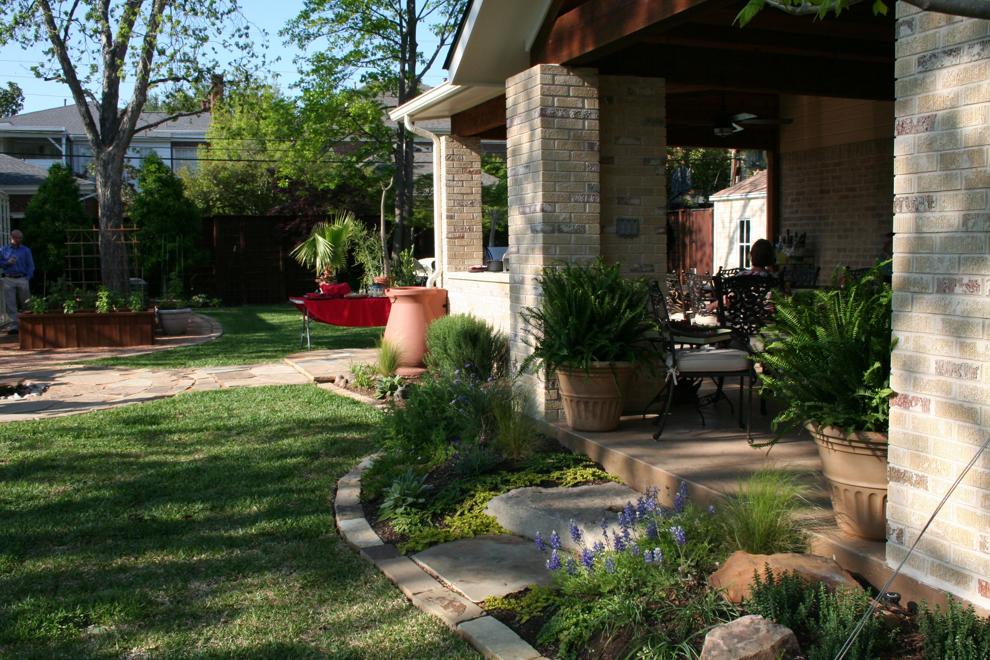 The Perennial Rock Garden Around The Patio Native Texas Plants Are A Great Way To Add Beauty While Saving On Texas Landscaping Rock Garden Texas Native Plants