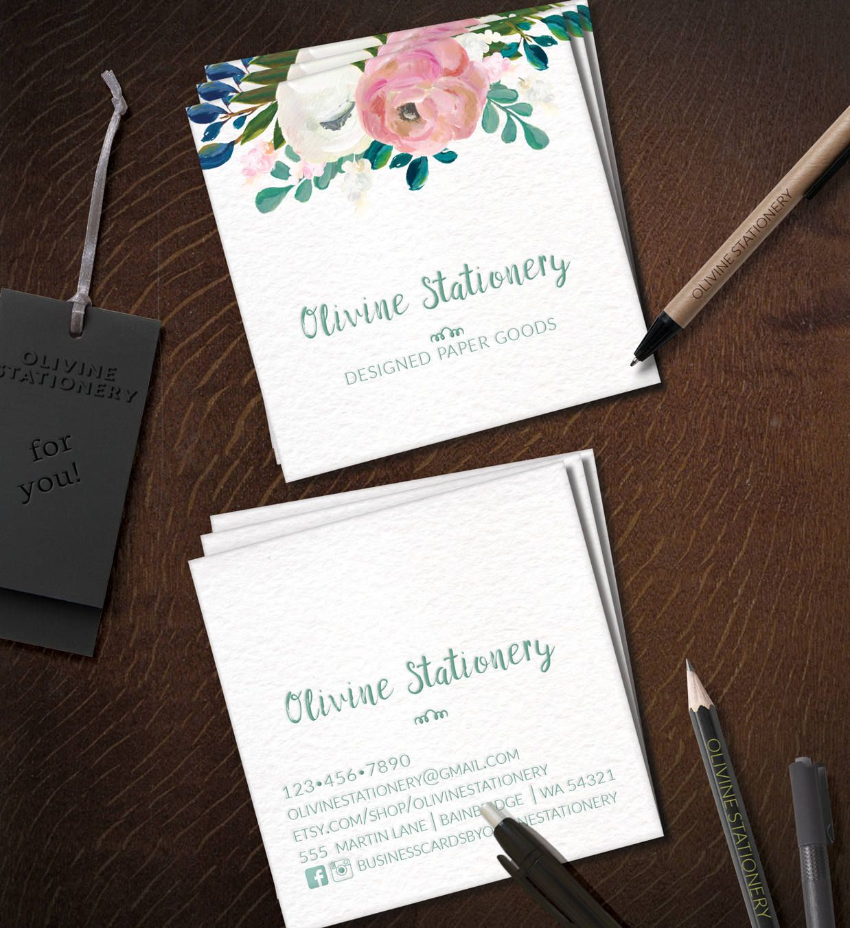 Pin by Olivinestationery on Business Cards | Pinterest | Business ...