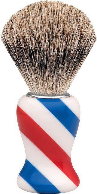 Rasierpinsel »M«, Dachshaar, Barbershop Design/Stripes