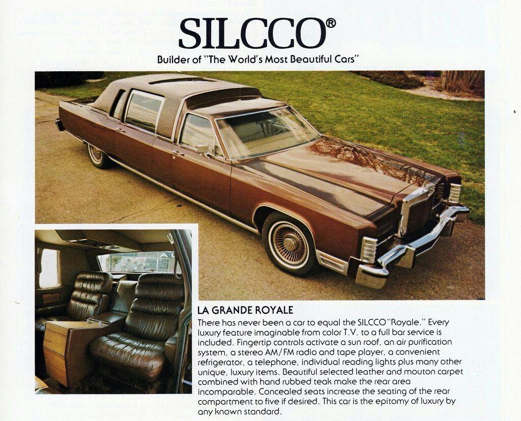 1977 Lincoln Continental Town Car La Grande Royale Limousine By Silcco Lincoln Continental Limousine Lincoln Motor