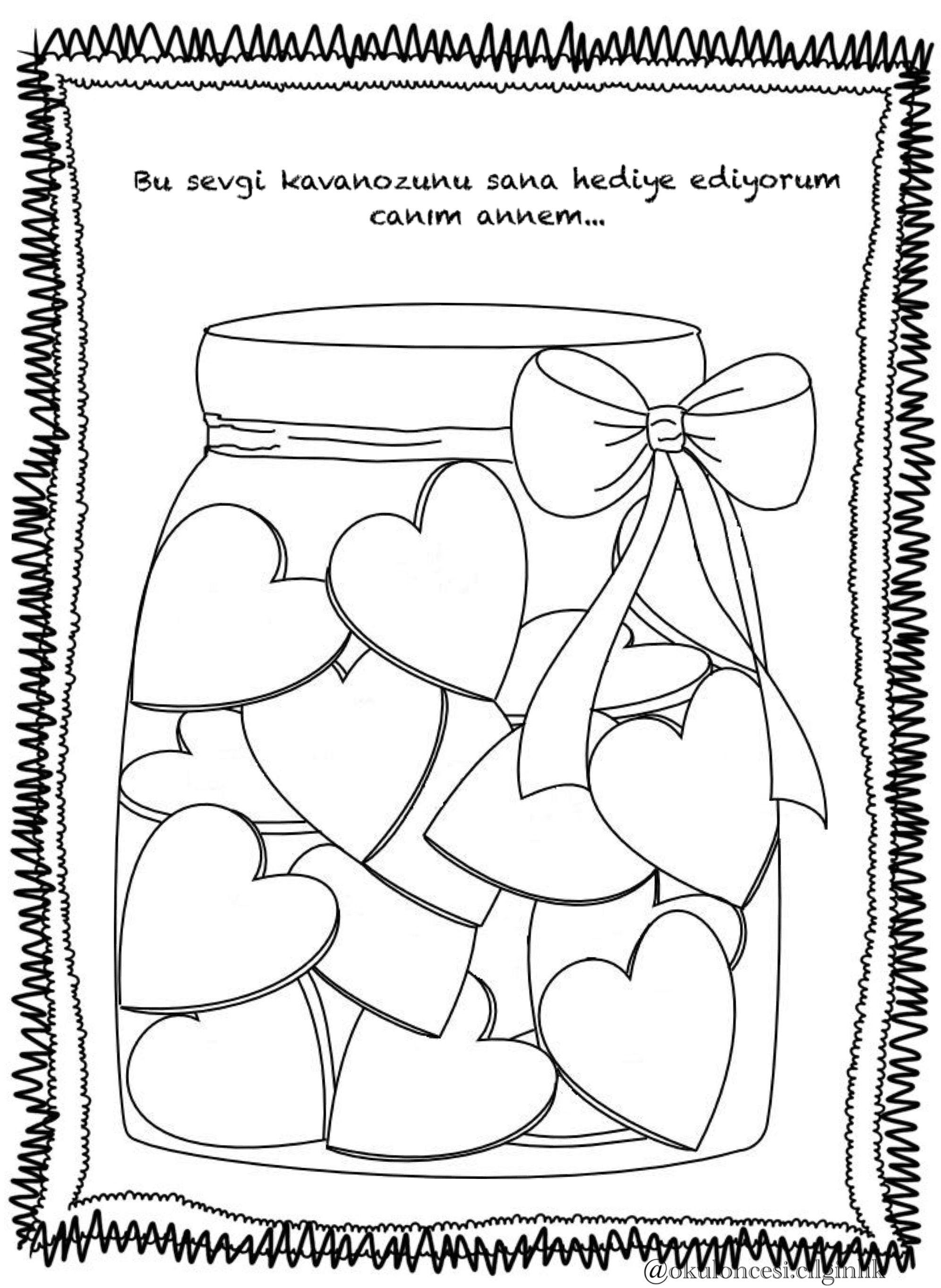 Pin About Anneler Gunu Babalar Gunu Ve Anne On Boyama Sayfalari