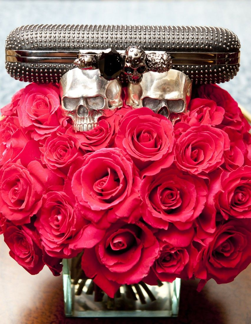 Fresh flowers with a side of mcqueen holy moly hello gorgeous