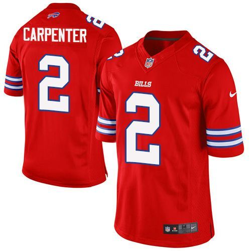 buffalo bills 2 dan carpenter red mens stitched nfl elite rush jersey