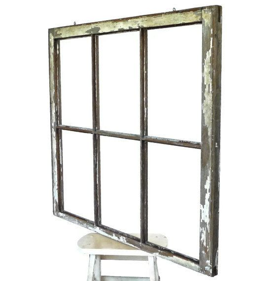 Six Pane Wood Window Frame Ready For Hanging by marybethhale, $46.00 ...