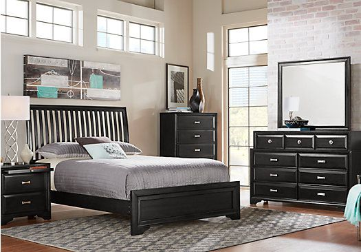 Belcourt Black 5 Pc King Slat Bedroom  $99999 Find affordable