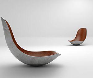 Die dresdner designer von paulsberg kreierten einen schaukelstuhl aus beton quelle hersteller - Designer schaukelstuhl ...