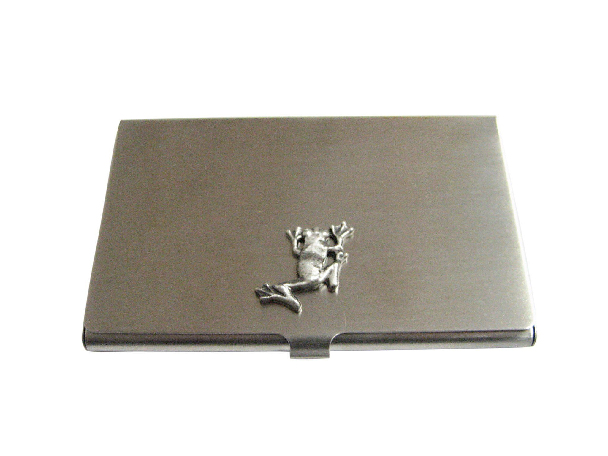 Silver Toned Frog Business Card Holder | Business card holders ...