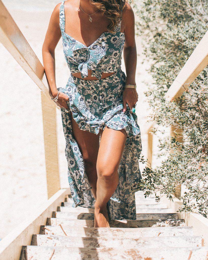 Mallorca Maxi Skirt and Top Set   Women's Clothing Bohemian Vibes ...