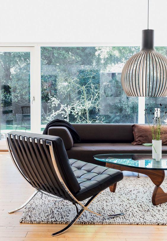 amusing decorating ideas living rooms barcelona chairs | Barcelona Chair in 2019 | Barcelona chair, Living room ...