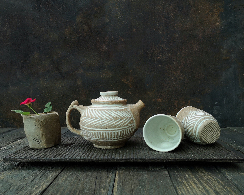 Reserved For James Japan Small Teapot Set Handmade Ceramic Tea Pots Tea Pot Set Pottery Tea Pot