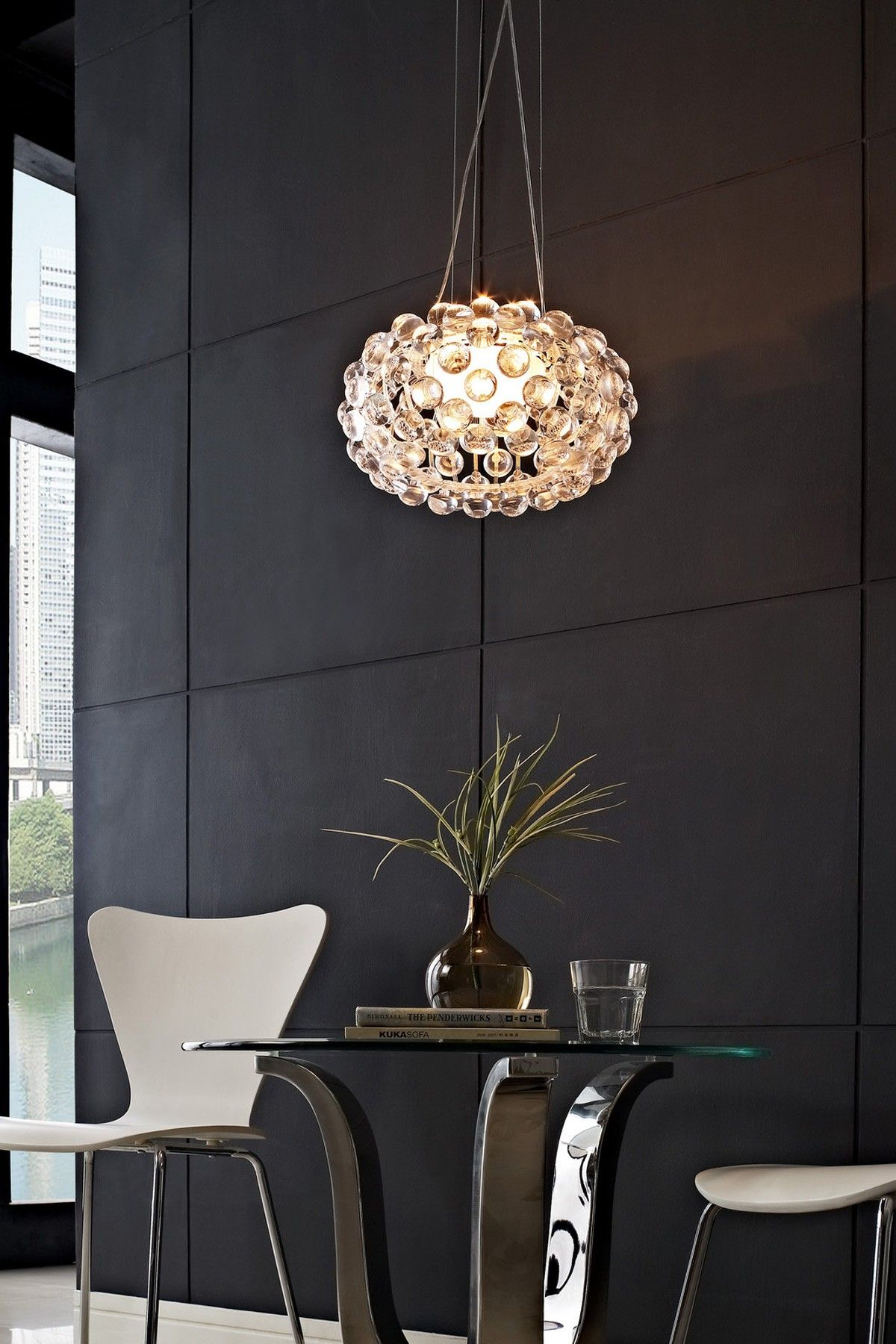 26 Halo Acrylic Crystal Ceiling Fixture. Perfect for a waiting area