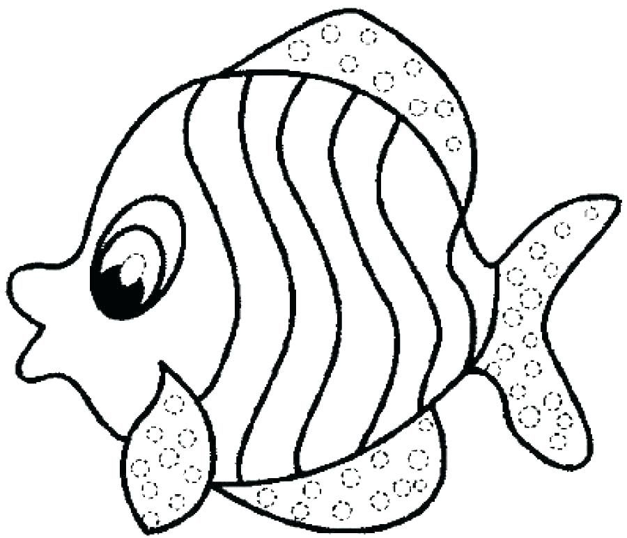 Coloring Pages For 3 4 Years Old Fish Coloring Page Mandala