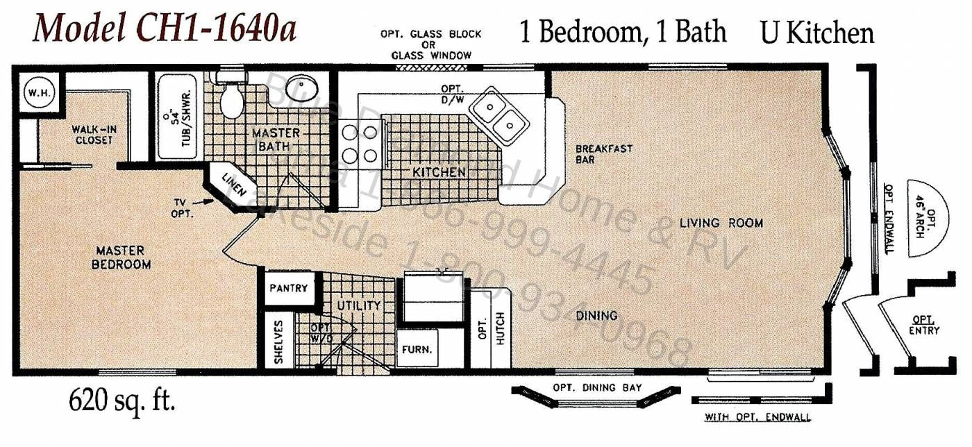 1 Bedroom Single Wide Mobile Home Floor Plans Patterns Of A Real