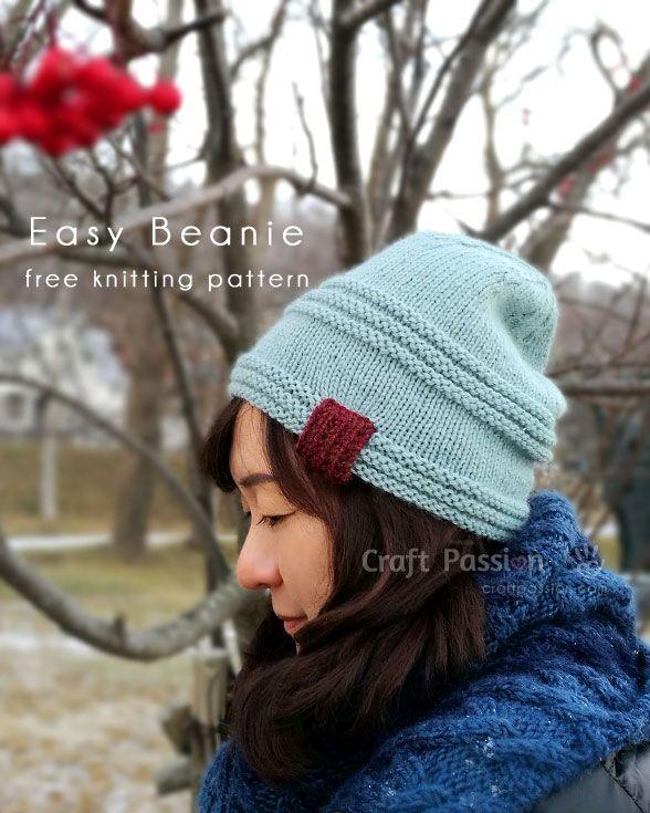 Easy Beanie Pattern Men Women Free Knit Pattern Knit