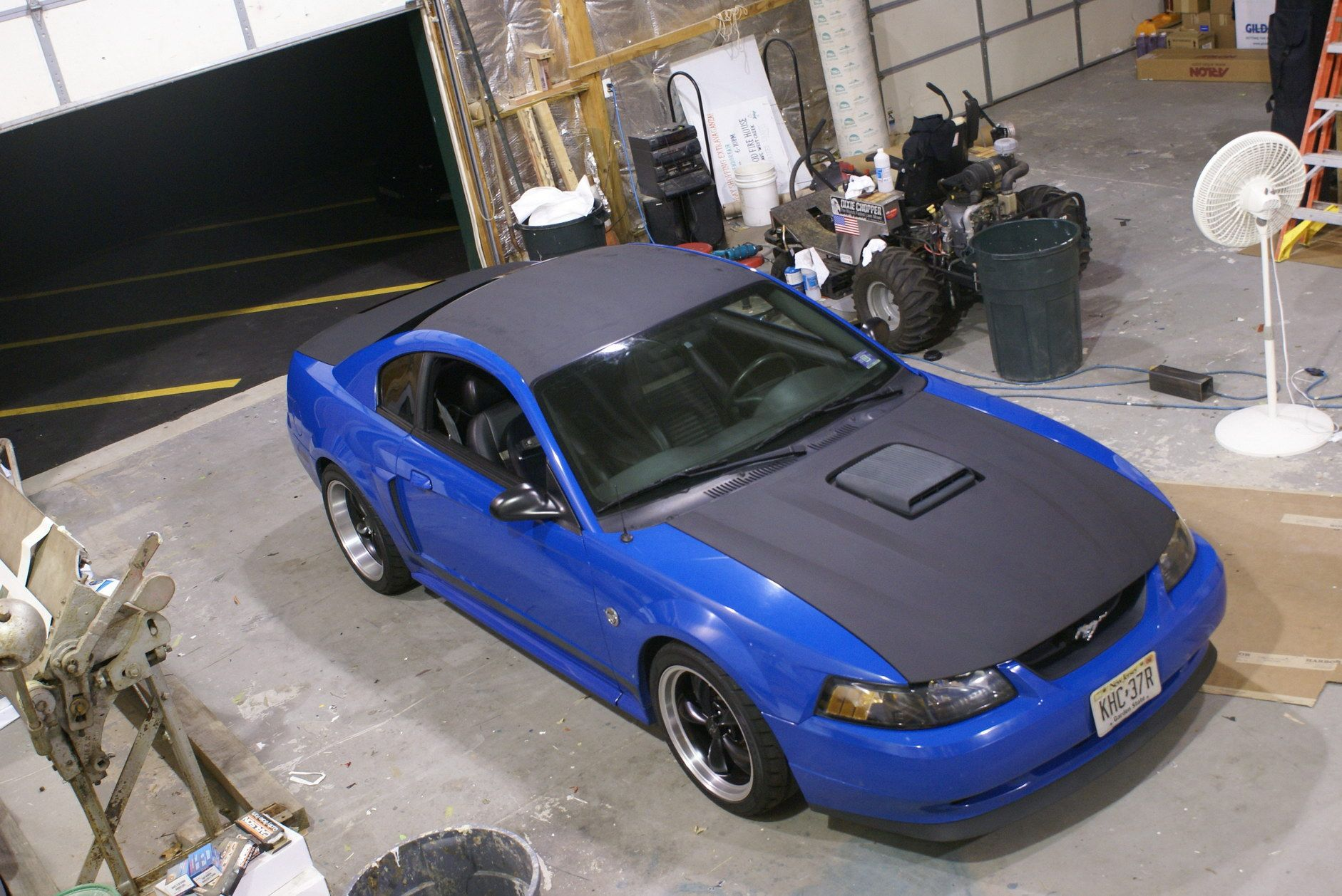 Blue Mustang Wrap 99 04 mustangs Pinterest