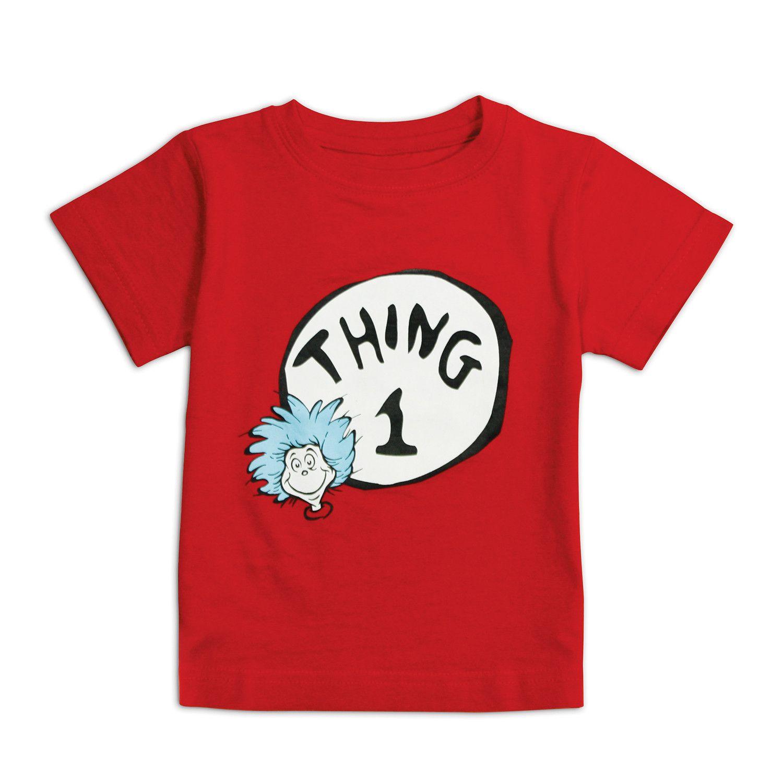Bumkins Dr Seuss Short Sleeve Thing 1 Tee 24mos Toddler Boy