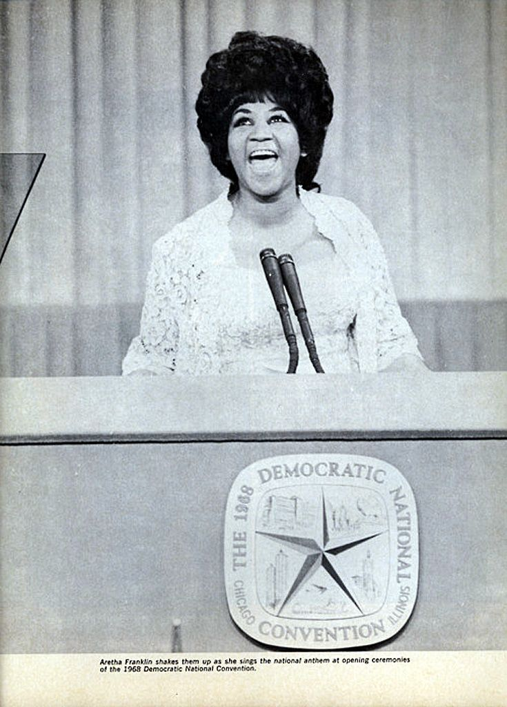 Monday August 26 1968 Aretha Franklin Sings The National