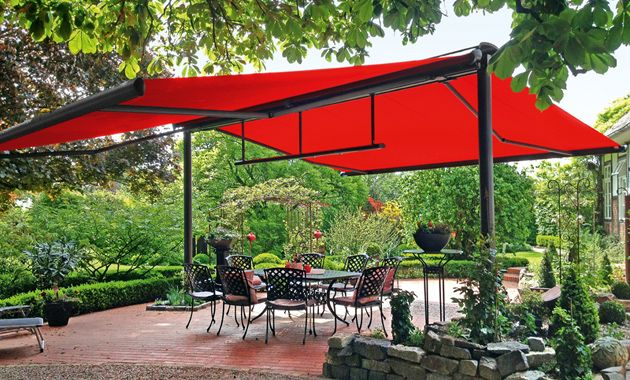 Markilux Us Free Standing Awning Can Come With Kerbstone Feet To Be Moveable Integrated Heating Patio Outdoor Awnings Pergola
