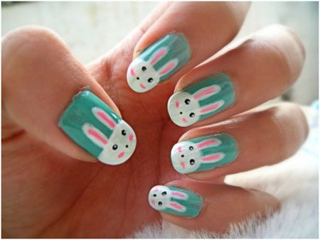50 Animal Themed Nail Art Designs To Inspire You Bunny Nails