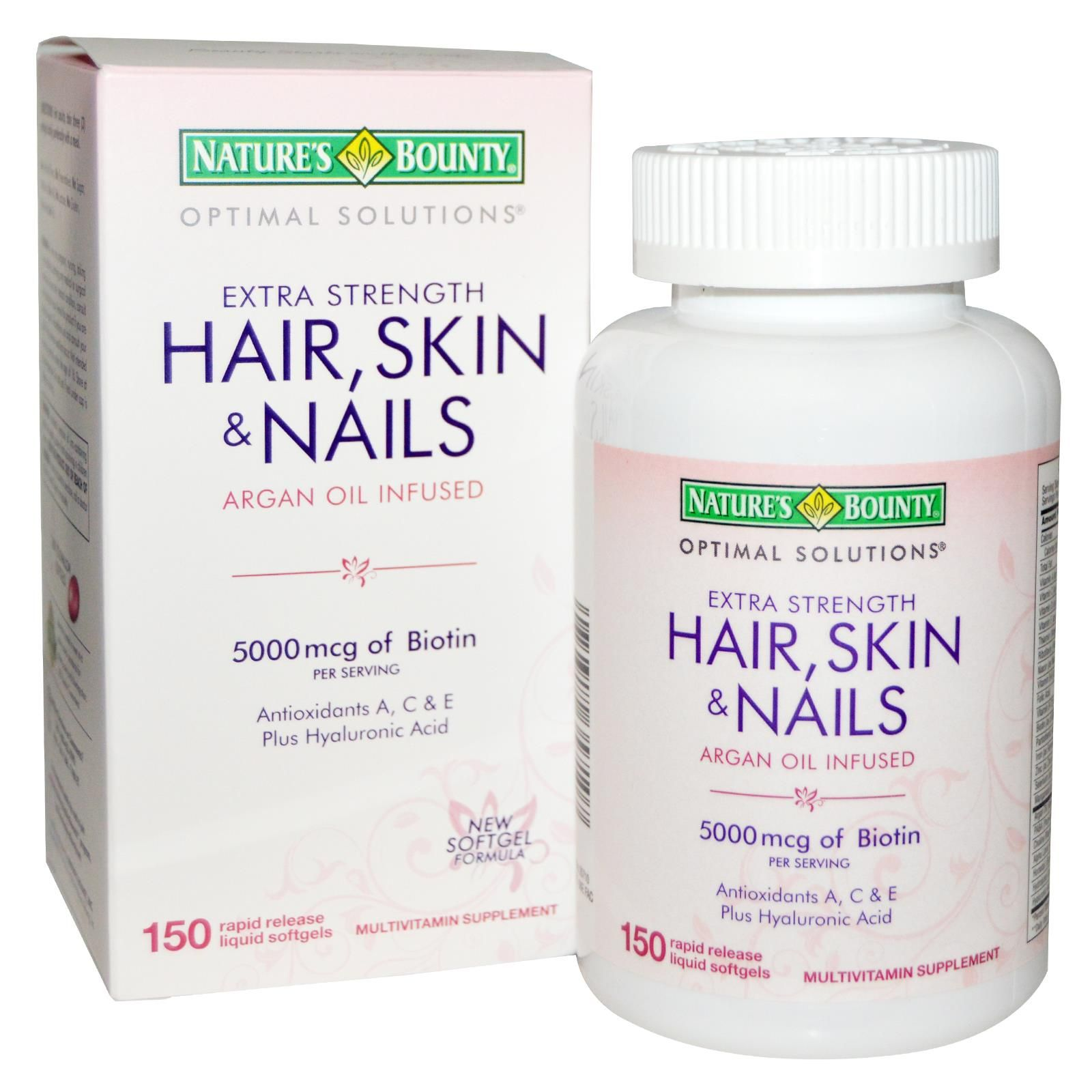 Details About Nature S Bounty Optimal Solutions Hair Skin
