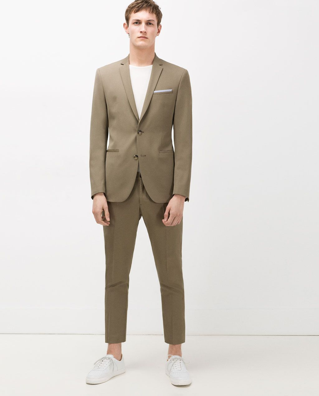 0ed8eed352ab5 Image 1 of KHAKI SUIT from Zara | Vestments in 2019 | Khaki suits ...