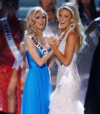 Kristen Dalton, Miss North Carolina USA  cried upon being named Miss USA 2009