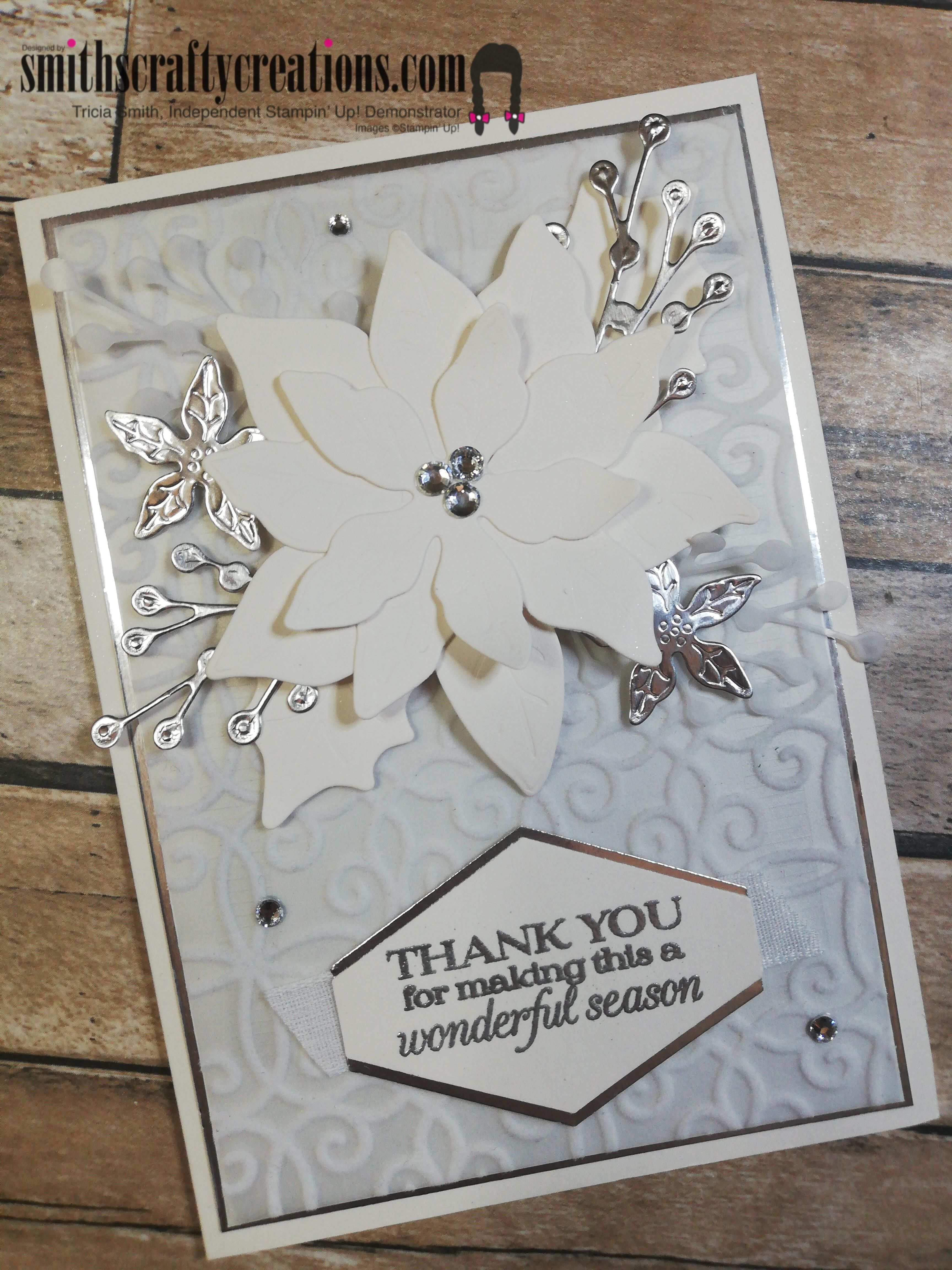 Poinsettia Christmas Card Ideas Stampin' Up! in 2020