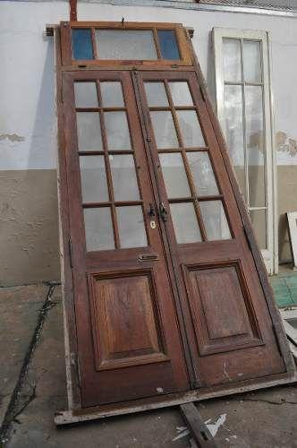 Excelentes puertas antiguas dobles en madera 2 for Puertas interiores antiguas madera