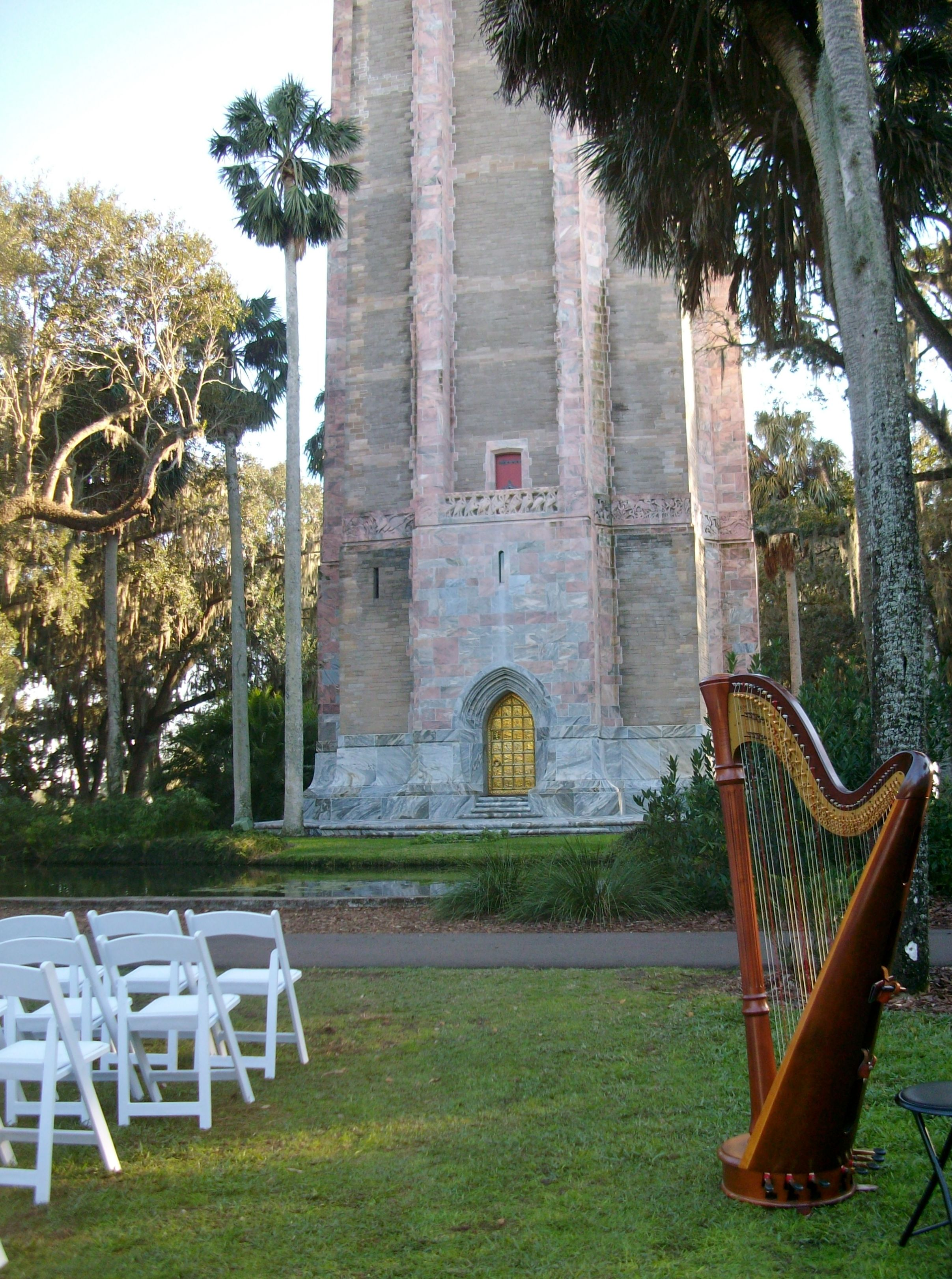Gorgeous Bok Tower Gardens a natural setting for a wedding in