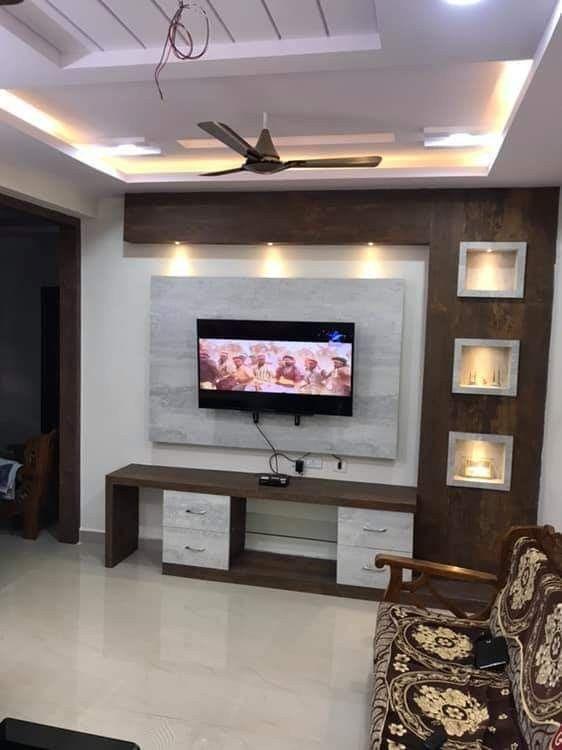 Living Room Tv Unit Designs Image By Bhuvana Reddy On B1 Wall Tv