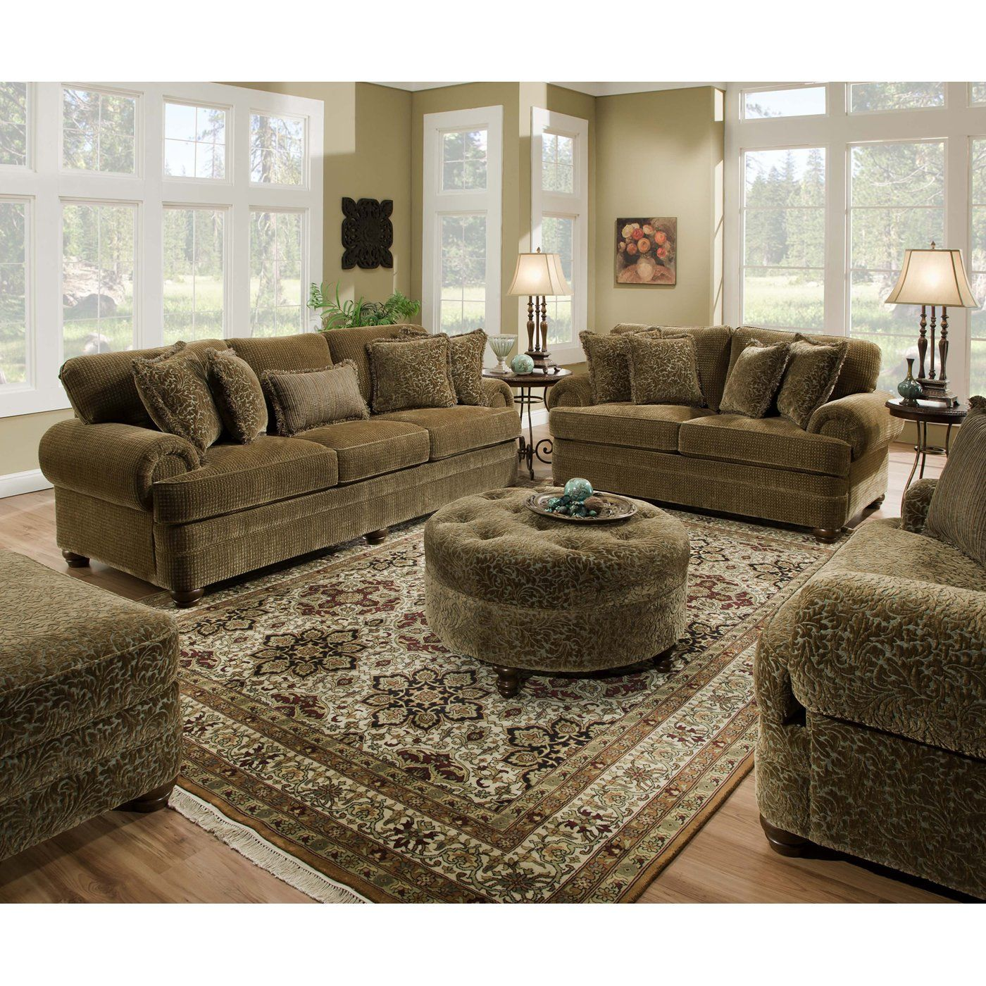 Simmons Upholstery 90100 Simmons Beautyrest Sofa Set