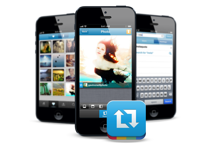 Repost is a mobile app that allows you to repost Instagram