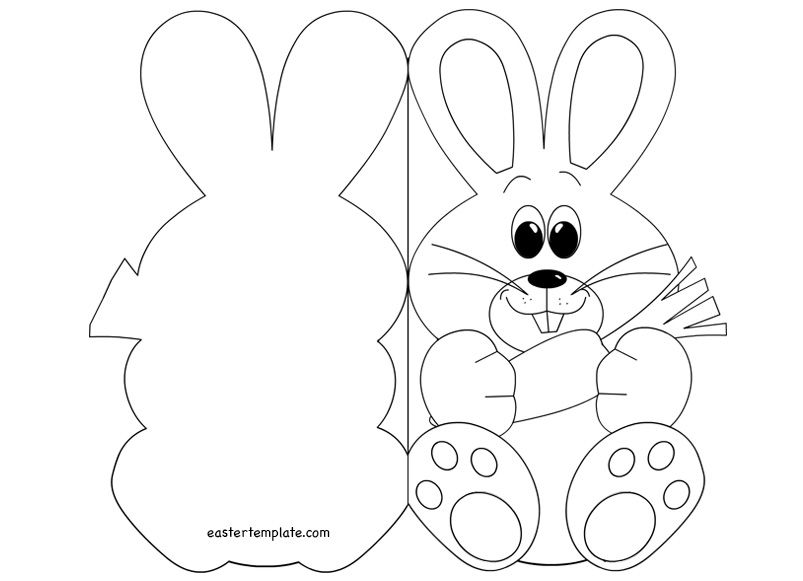 Easter Bunny Card Template 2 | Crafts: Easter | Pinterest | Card