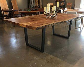 Tavolo Da Pranzo Industriale : Grande live edge tavolo da pranzo gambe in acciaio industriale