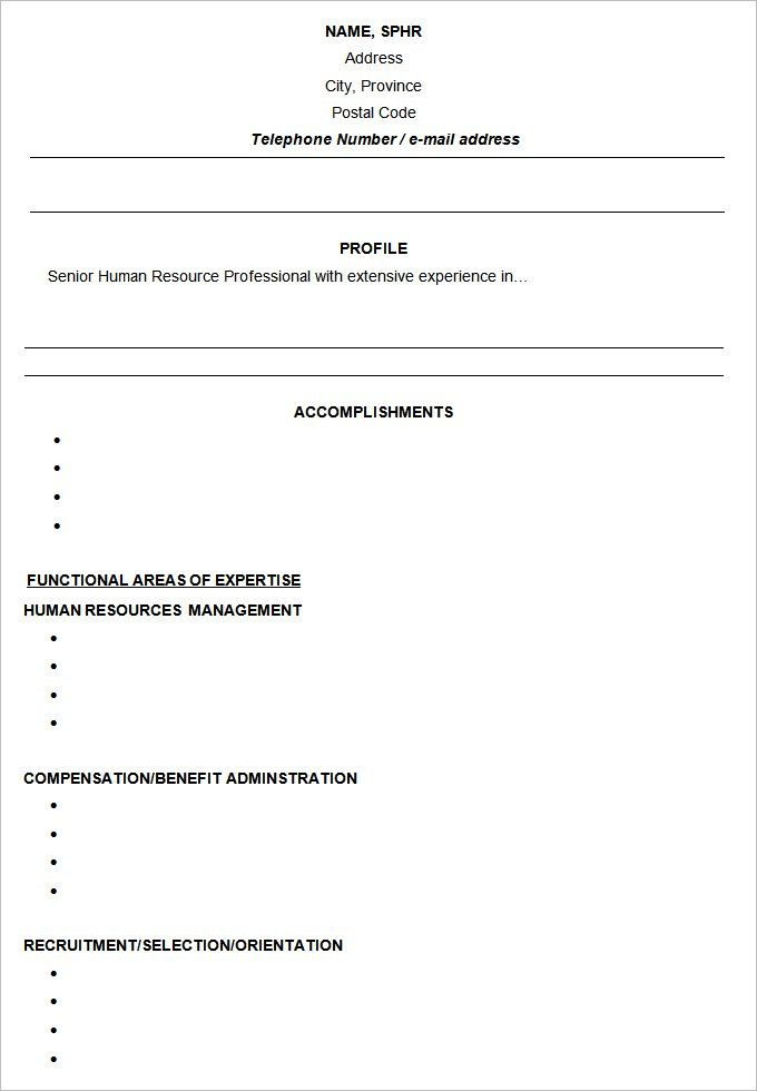 Functional Resume Templates 15+ Free Samples, Examples \ Formats - functional resumes templates