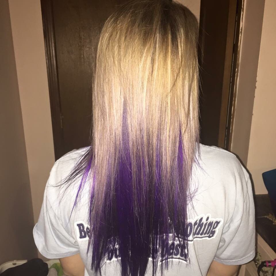 Blonde with purple underneath Hair Pinterest Blondes Hair