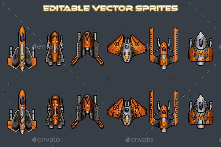 Pirate Spaceship 2D Sprites | Sprite, Spaceship, Pirates