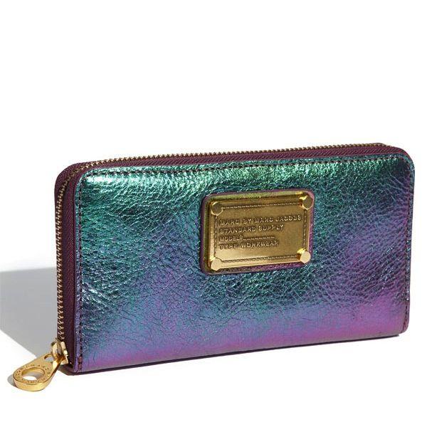 df3d9b356863d9 Marc by Marc Jacobs 'Classic Q Vertical Zippy' iridescent jewel-tone wallet