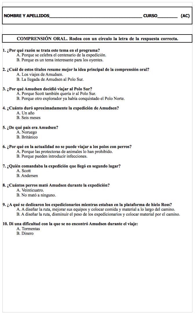 Ejemplo De Adaptacion Curricular Comprension Oral Comprension Oral Educacion