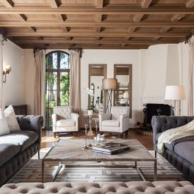 Mediterranean Living Room by Peter Lyons Photography