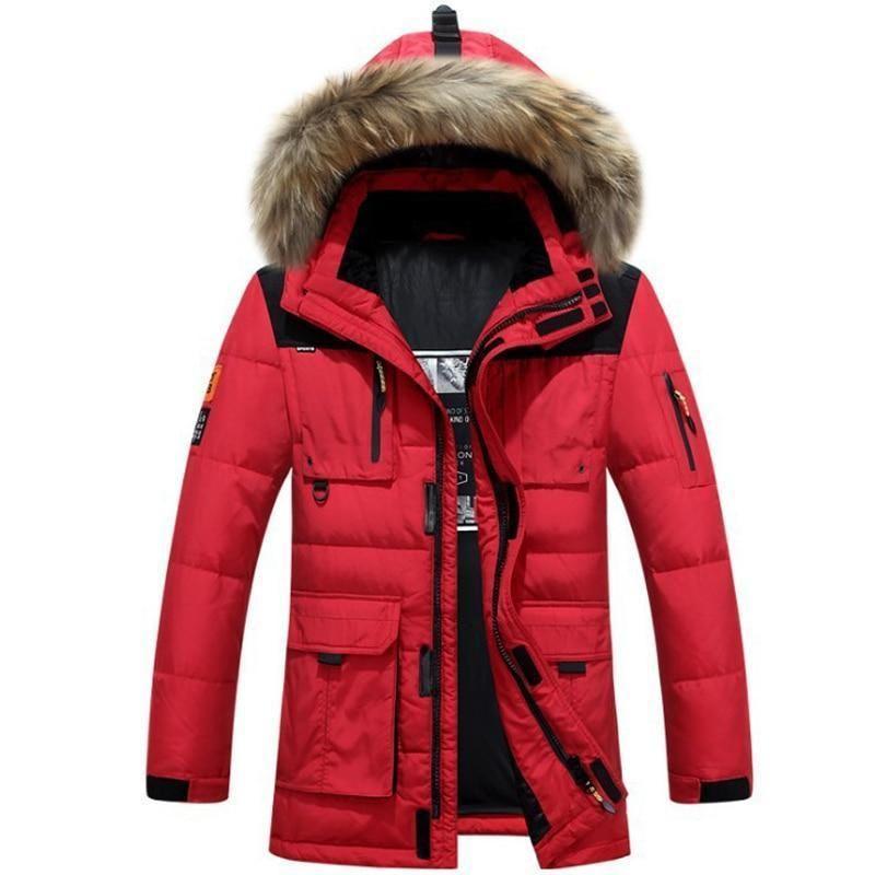 13caeee3544 White Duck Down Jacket Men Thick Warm Coat Mens Down Parka Men S Duck Down  Jacket Waterproof Soft