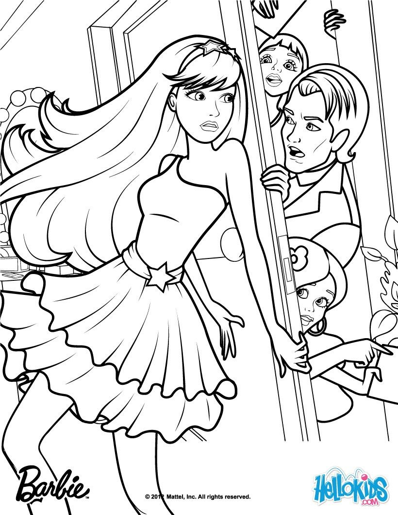 Keira and Seymour Crider Barbie coloring page More Barbie the Princess & the Popstar coloring