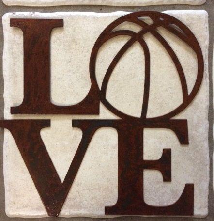 Love Basketball Baseball Football Or Soccer 12 Etsy In 2020 Love And Basketball Metal Wall Sign Basketball Signs