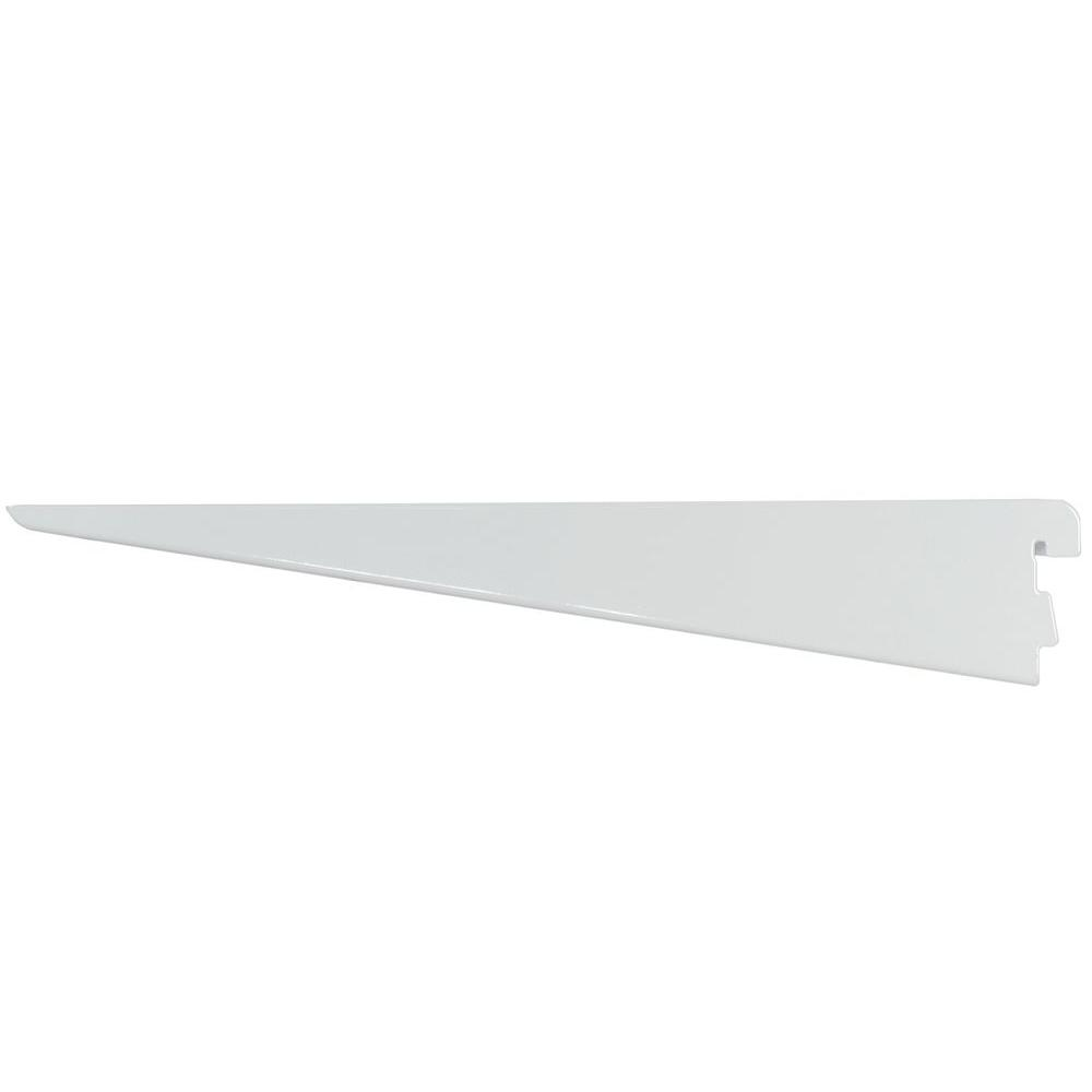 Rubbermaid 14 5 In D White Twin Track Bracket For Wood Or Wire