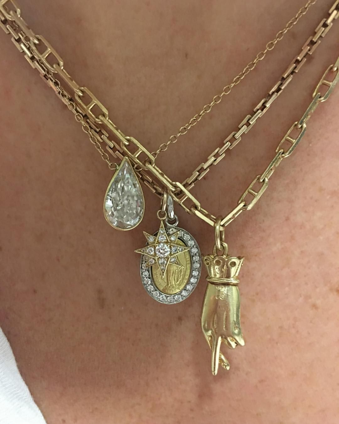 Pin by maudie on layered gold necklaces in pinterest